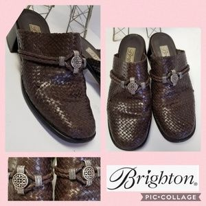 Brighton Woven Leather Loafers